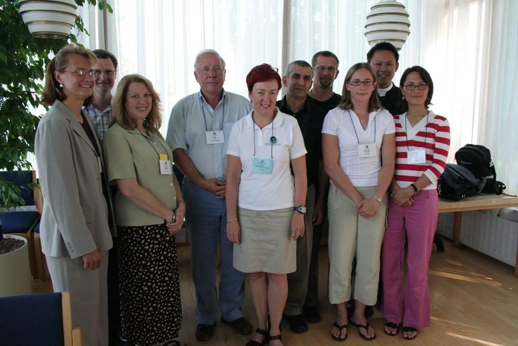 2006 Jyvaskyla (L-R) D. Castelli, P. Hay, M. Manson, B. Crum (BM), P. Heikinaro-Johansson (BM), E. Eldar (BM), E. Gerlach, SJ. Belton, A. Leow, C. Koca.